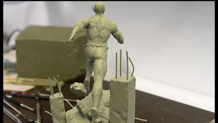 Flash statue sculpt