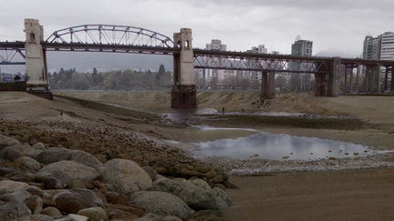 Burrard Bridge without water