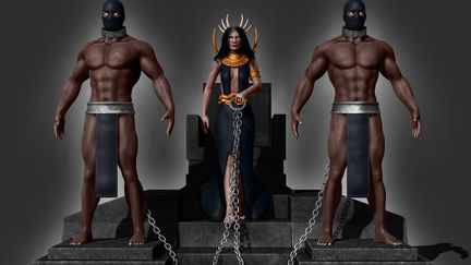Queen with personal slaves