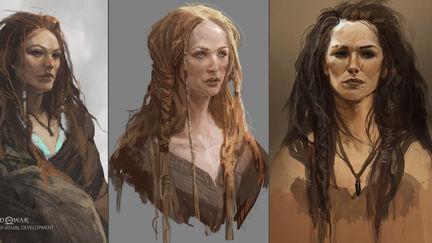 God of War Visual Development- Freya