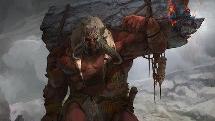 God of War Visual Development- Fire Troll