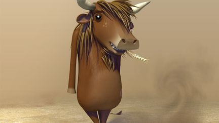 haired cow