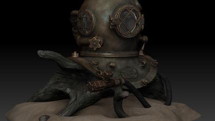 Desco diving helmet