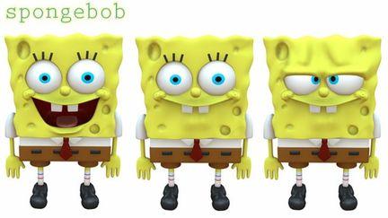 Spongebob model and shapes