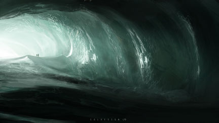 ice cave discovery sketch