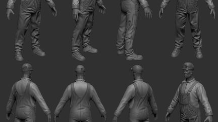 Worker high-poly
