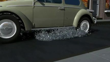 Puddle Splash with Realflow and Maya