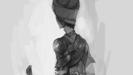 sketch of warrior