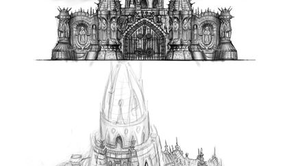 Game art concept sketch
