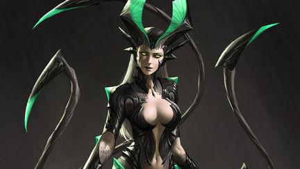 Akantha - Goddess of the Underworld Concept