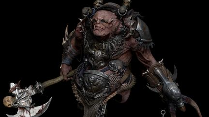 Zbrush orc- sculpting
