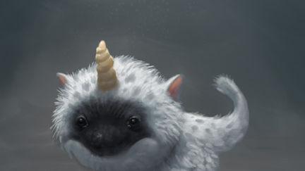 Fuzzy Baby Unicorn