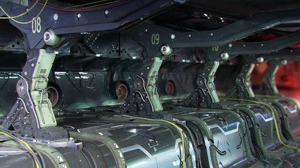 Gundam Style Industrial Room