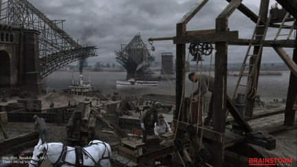 """Matte Painting for History Channel """"The Man Who Build America"""" 2010"""
