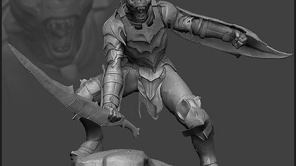 Moria Orc sculpt