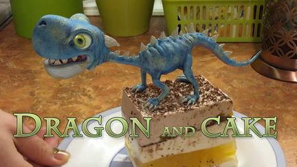 Dragon and cake
