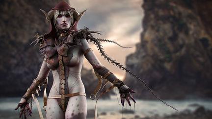 Demon Warrior Concept (3D/2D)