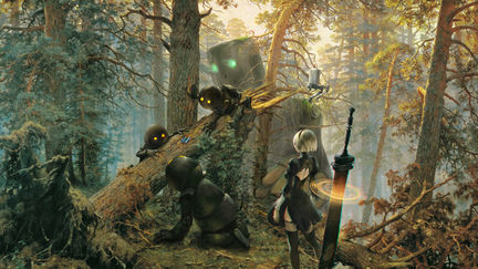 Robots in a Pine Forest after Shishkin