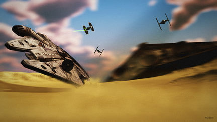 Falcon Chase (a tribute to star wars)