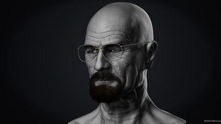 Likeness sculpt of Bryan Cranston