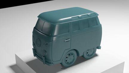 Cute VW van