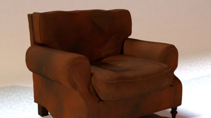 Leather Chesterfield Easy Chair