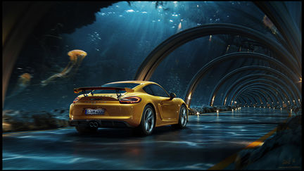Porsche - Underwater road   making of