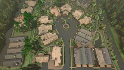 """""""The Shire"""" aerial view"""