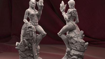 Bioss- android sculpture