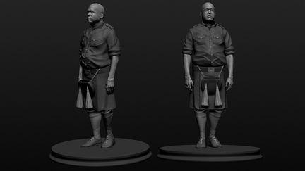 Last king of Scotland inspired sculpt