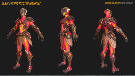 Overwatch All star 2018 Pacific Genji highpoly
