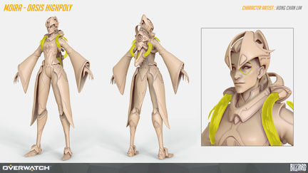 Overwatch Moira Oasis Highpoly by Hong Chan Lim