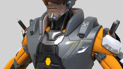 Overwatch Soldier:76 Cyborg high poly