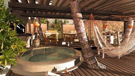 A tropical spa concept
