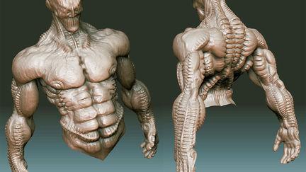 Droojun-high resolution sculpt - body