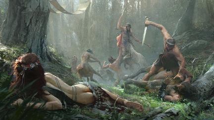 Theseus killing Eurytus the centaur