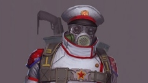USSR post-apocalyptic character