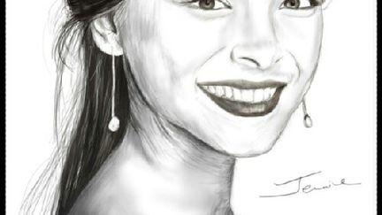 Sketch of Kristin Kreuk