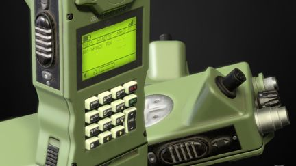 Handheld Military Radio game prop