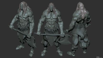 Study Sculpt Orc sketch
