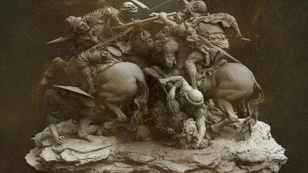 "The Battle of Anghiari "" Leonardo da Vinci """