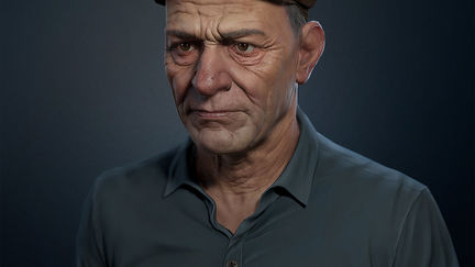 Peasant portrait - low poly