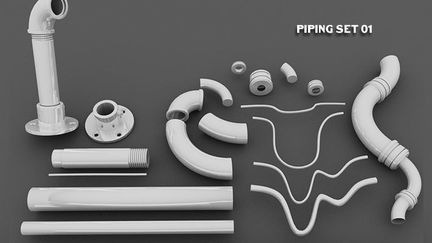 kitbash pipe set