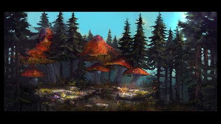Amanita forest