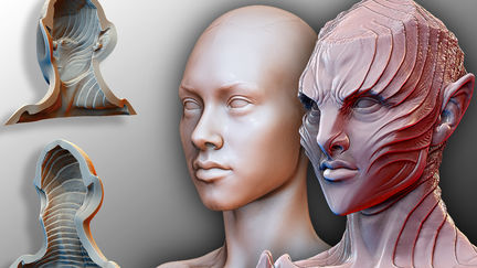 3D sculpt to create mold for silicone appliance