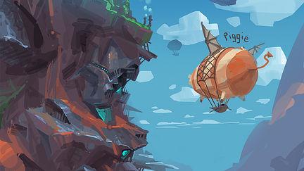doodle_flying piggie~