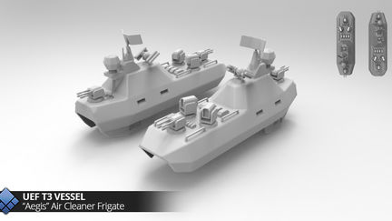UEF Game units 3D modelling