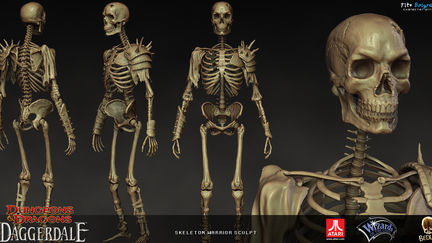 Skeleton Warrior sculpt