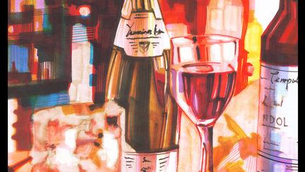 Marker Rendering Wine