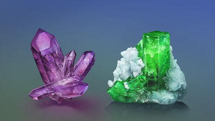 Amethyst & Emerald